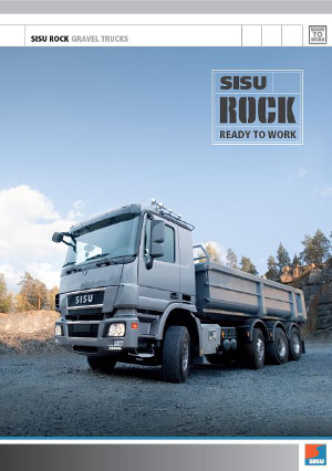 Sisu Polar eV Rock gravel trucks
